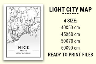Print on Demand: Nice Light City Map Graphic Photos By tienstencil