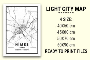 Print on Demand: Nîmes Light City Map Graphic Photos By tienstencil