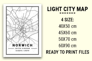 Print on Demand: Norwich Light City Map Graphic Photos By tienstencil