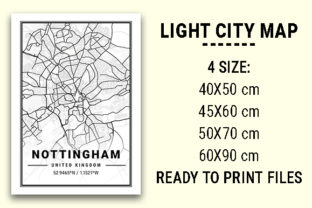 Print on Demand: Nottingham Light City Map Graphic Photos By tienstencil