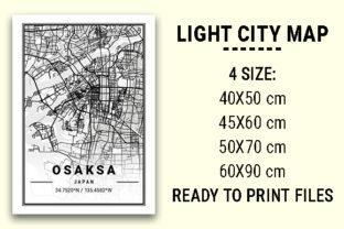 Print on Demand: Osaksa Light City Map Graphic Photos By tienstencil
