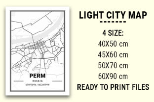 Print on Demand: Perm Light City Map Graphic Photos By tienstencil