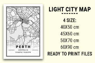 Print on Demand: Perth Light City Map Graphic Photos By tienstencil