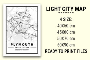 Print on Demand: Plymouth Light City Map Graphic Photos By tienstencil