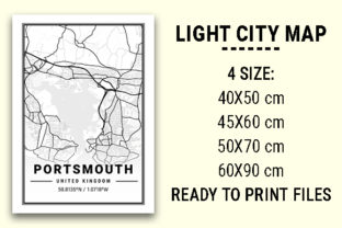 Print on Demand: Portsmouth Light City Map Graphic Photos By tienstencil