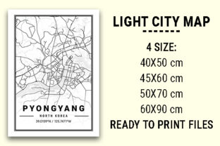 Print on Demand: Pyongyang Light City Map Graphic Photos By tienstencil