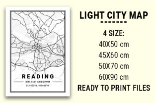 Print on Demand: Reading Light City Map Graphic Photos By tienstencil