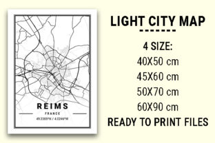 Print on Demand: Reims Light City Map Graphic Photos By tienstencil