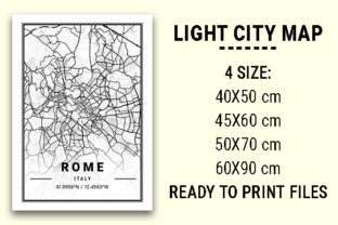 Print on Demand: Rome Light City Map Graphic Photos By tienstencil