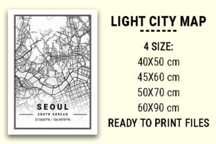 Print on Demand: Seoul Light City Map Graphic Photos By tienstencil