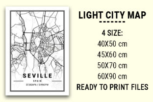 Print on Demand: Seville Light City Map Graphic Photos By tienstencil