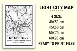 Print on Demand: Sheffield Light City Map Graphic Photos By tienstencil