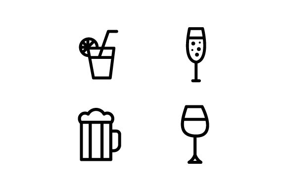 Vector Collection of Drink Icons Graphic Icons By deniprianggono78