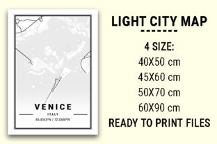 Print on Demand: Venice Light City Map Graphic Photos By tienstencil