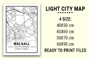 Print on Demand: Walsall Light City Map Graphic Photos By tienstencil
