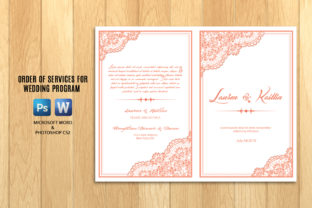 Print on Demand: Wedding Program Template Brochure Graphic Print Templates By sistecbd