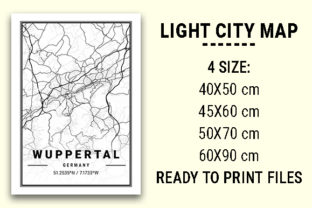 Print on Demand: Wuppertal Light City Map Graphic Photos By tienstencil