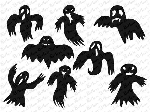 Ghost Halloween Graphic Illustrations By PurMoon
