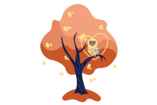 Owl Sitting in Autumn Tree Fall Craft Cut File By Creative Fabrica Crafts
