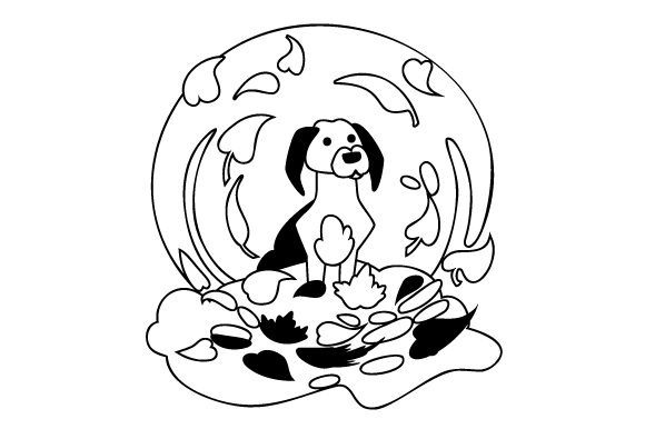 Dog In Pile Of Leaves Svg Cut File By Creative Fabrica Crafts Creative Fabrica