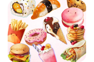 20 Delicious Food Clipart Set Graphic Icons By Alphabelli