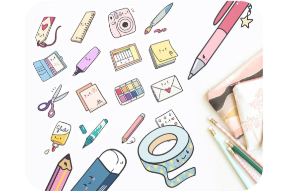 20 Planning Printable Doodles • School Graphic Icons By Alphabelli