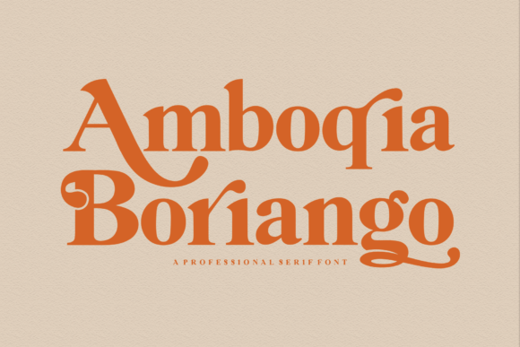 Print on Demand: Amboqia Boriango Serif Font By Creativewhitee