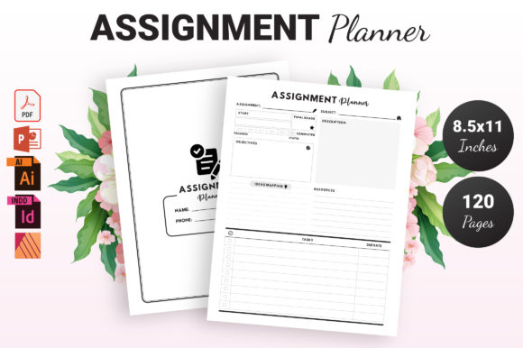 Print on Demand: Assignment Planner - KDP Interior Graphic KDP Interiors By KDP Ninja