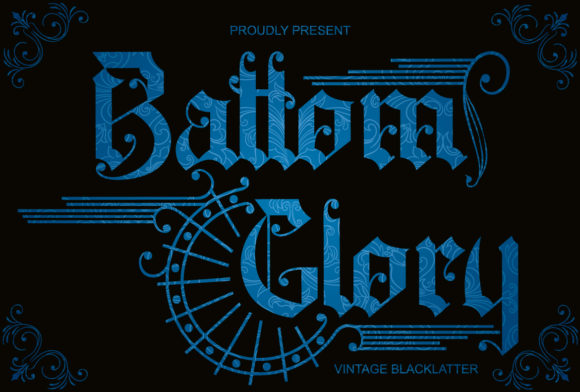 Print on Demand: Battom Glory Blackletter Font By Sealoung