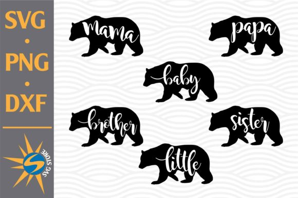 Print on Demand: Bear Family Graphic Crafts By SVGStoreShop