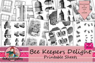 Bee Keepers Delight Printable Sheets Graphic Crafts By thatsjustpenny