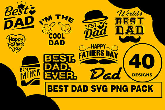 Best Dad Designs Bundle Graphic Illustrations By CactusTreeDesigns