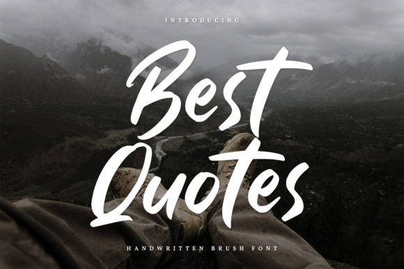 Print on Demand: Best Quotes Script & Handwritten Font By Din Studio