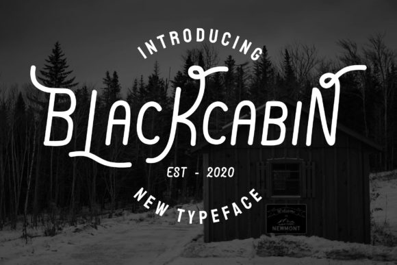 Print on Demand: Blackcabin Display Font By Universtock