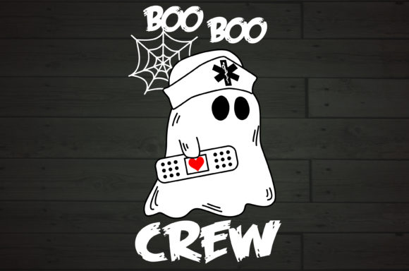 Boo Boo Crew Nurse Ghost Medical Plaster Graphic Crafts By NiceToMeetYou