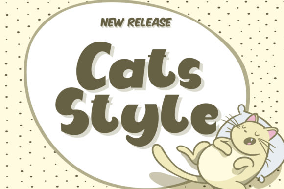 Print on Demand: Cats Style Display Font By Fallengraphic