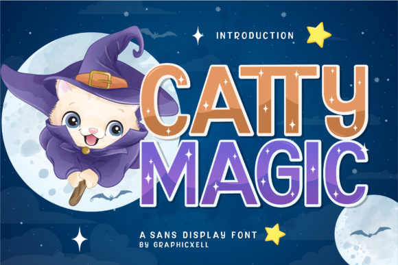 Print on Demand: Catty Magic Display Font By Graphicxell