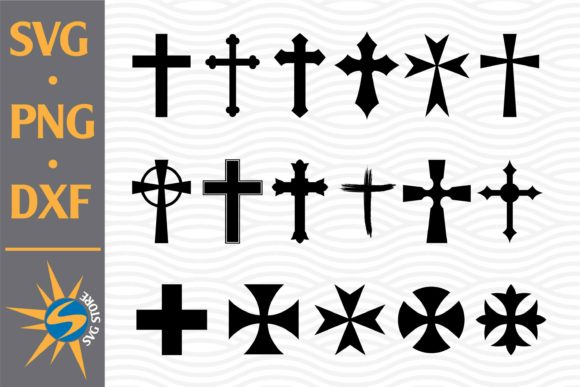 Print on Demand: Christian Cross Silhouette Graphic Crafts By SVGStoreShop