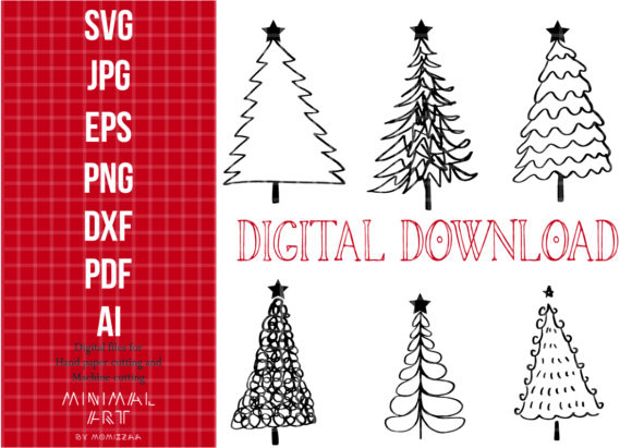 Print on Demand: Christmas Tree Clip-art Graphic Graphic Illustrations By Momixzaa