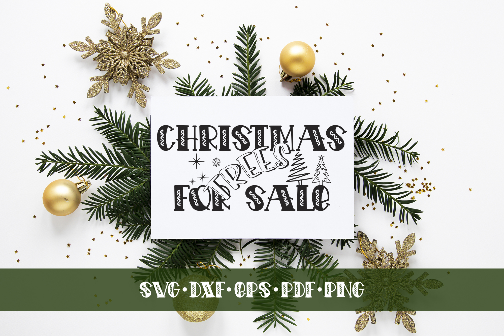 Christmas Trees For Sale Graphic By Craftlabsvg Creative Fabrica