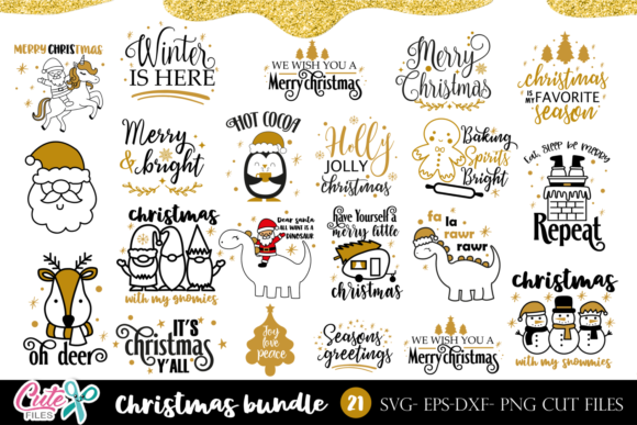Christmas Quotes Bundle for Crafter Graphic Crafts By Cute files