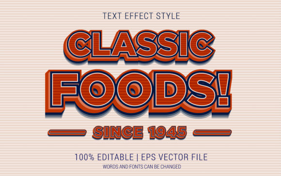 Classic Foods Text Effects Style Graphic Layer Styles By Neyansterdam17