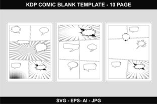 Print on Demand: Comic Book Blank Template with Bleed Graphic Graphic Templates By edywiyonopp