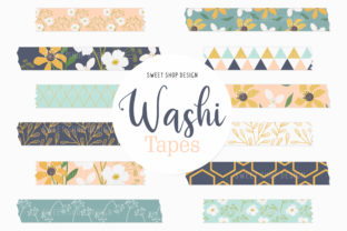 Digital Washi Tape Pretty Wild Flowers Graphic Illustrations By Sweet Shop Design