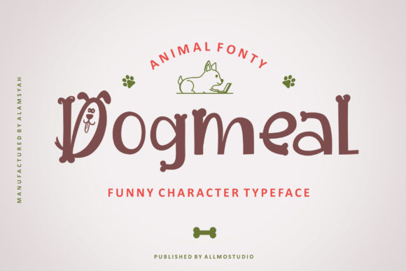 Print on Demand: Dogmeal Display Font By AllmoStudio