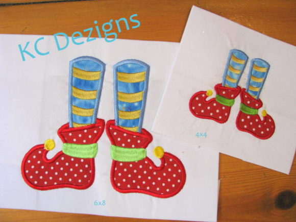 Elf Feet Christmas Embroidery Design By karen50