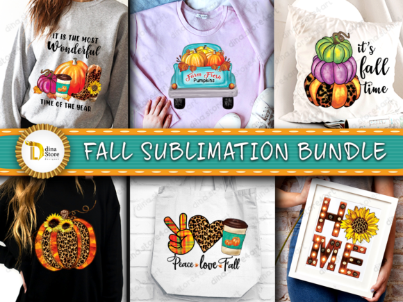 Print on Demand: Fall Sublimation Bundle Graphic Crafts By dina.store4art - Image 1
