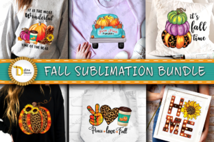Fall Sublimation Bundle Graphic Crafts By dina.store4art