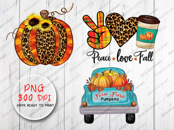 Print on Demand: Fall Sublimation Bundle Graphic Crafts By dina.store4art - Image 2