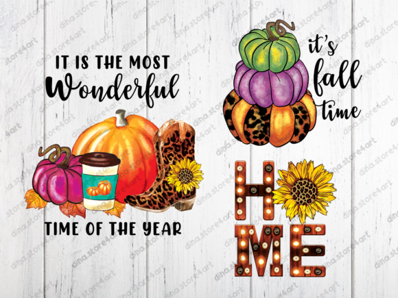 Print on Demand: Fall Sublimation Bundle Graphic Crafts By dina.store4art - Image 3